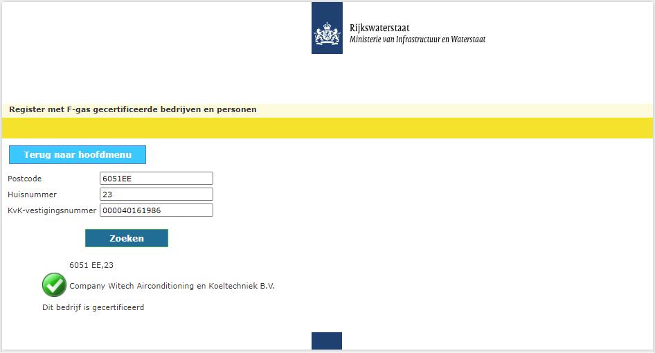 Witech Airco F-gassen certificaat